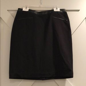 Talbots Black Pencil Skirt with leather lining